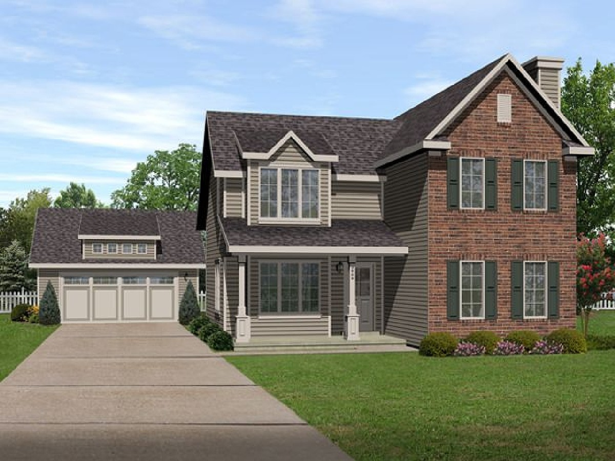 Detached garage included 22094sl architectural designs for Farmhouse plans with detached garage