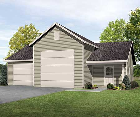 Rv garage with shop 22099sl cad available pdf for Garage plans pdf