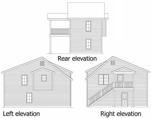 2 Car Garage Apartment 2251sl: Narrow Lot Garage Apartment - 22100SL