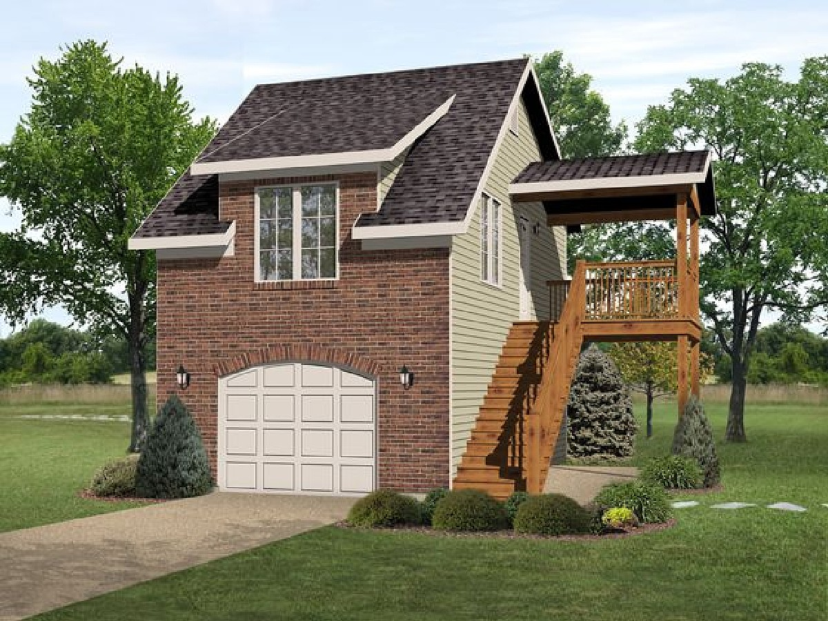 Narrow lot garage apartment 22100sl 2nd floor master for Small house plans with 2 car garage
