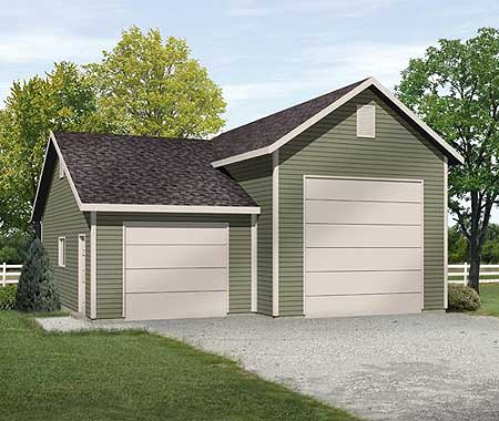 Rv garage plan 2238sl narrow lot cad available pdf for Rv garage plans and designs