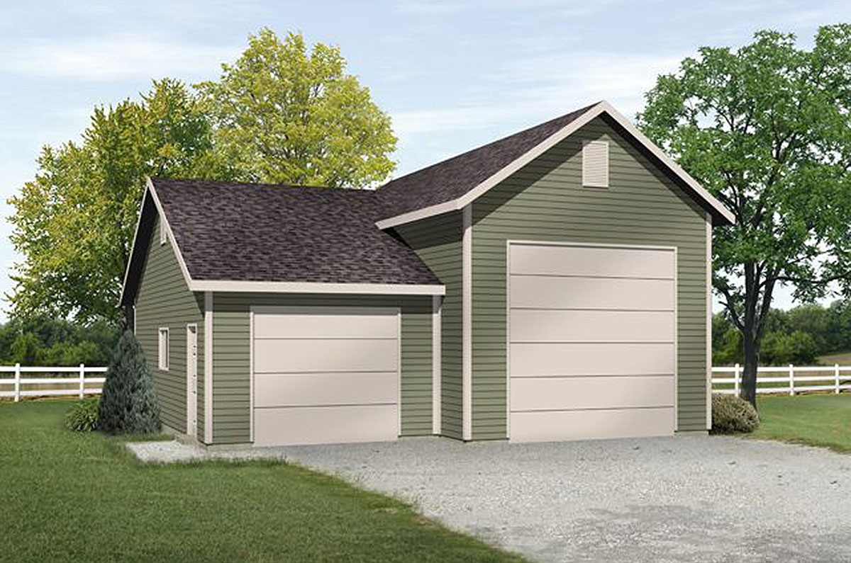 Rv garage with options 22101sl architectural designs for Garage options