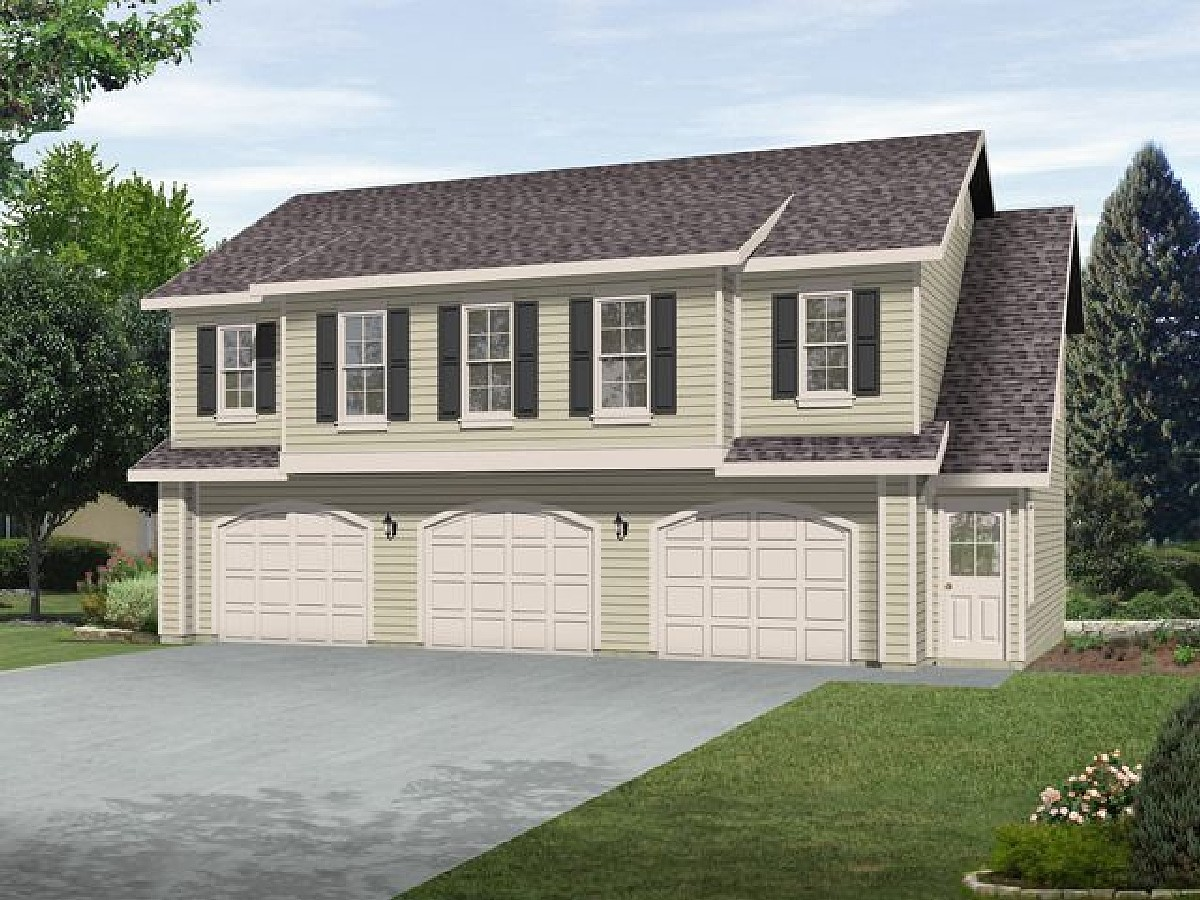 Two bedroom carriage house plan 22105sl architectural for House with garage apartment