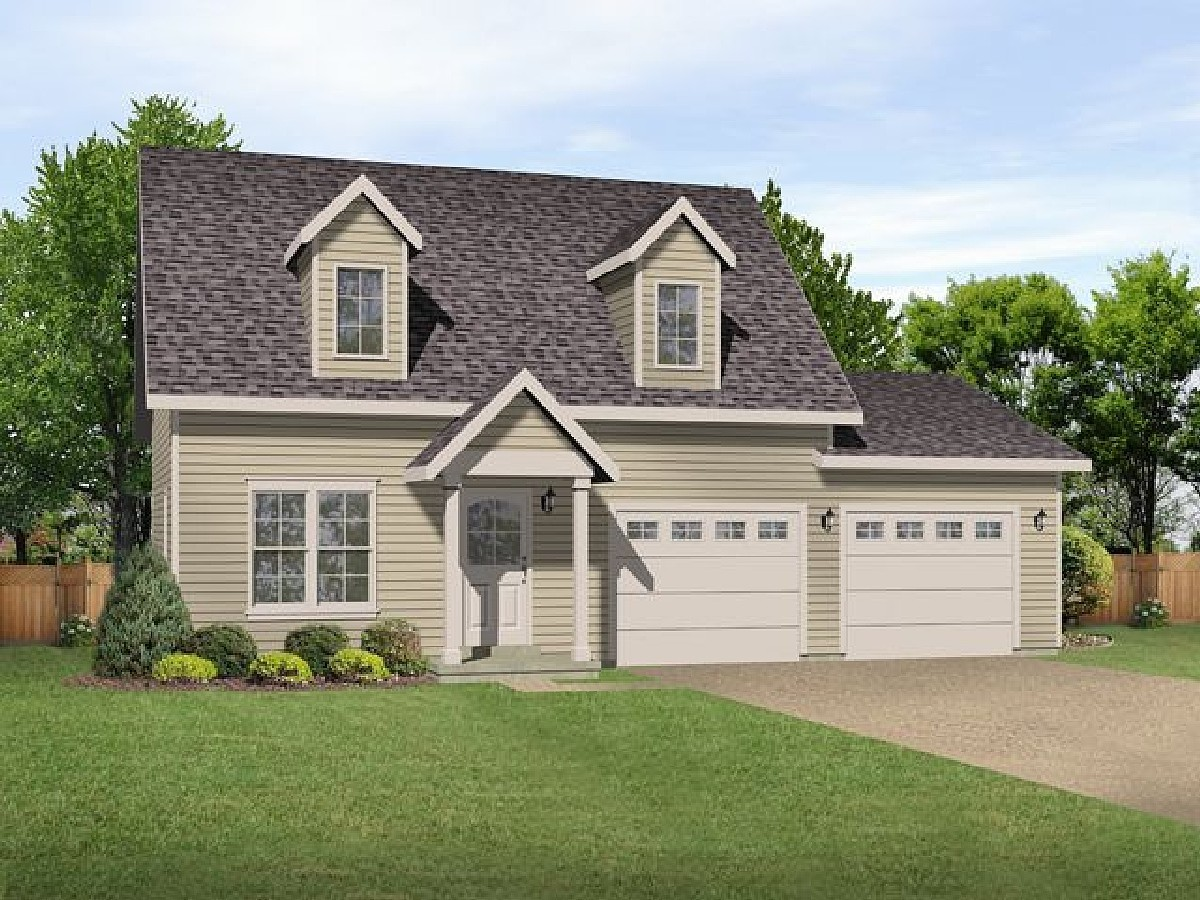 Cape cod charmer 22109sl architectural designs house for Large cape cod house plans