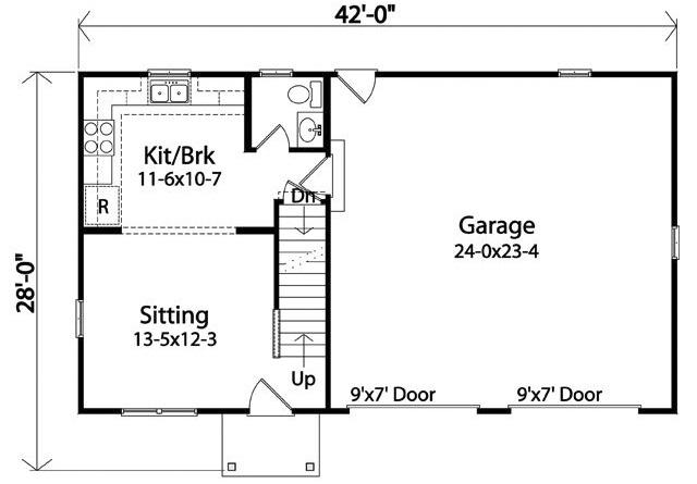 Cape Cod Charmer - 22109SL floor plan - Main Level