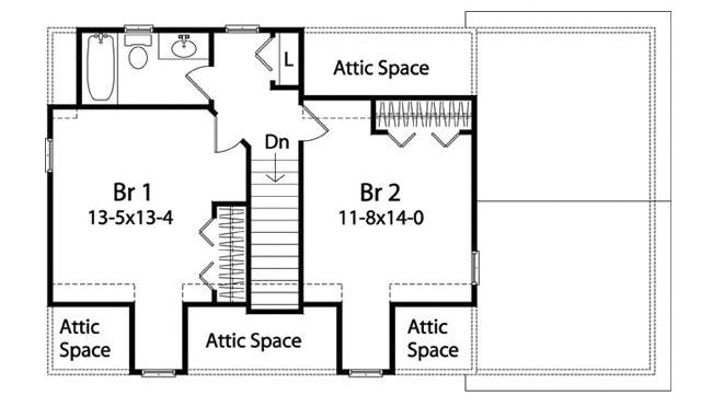 Cape Cod Charmer - 22109SL floor plan - 2nd Floor