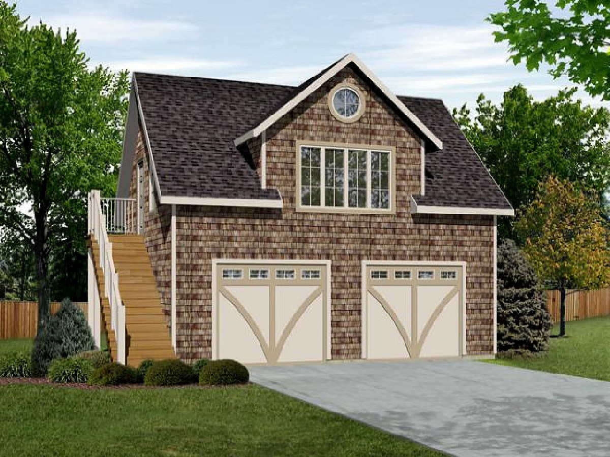 Plan w2225sl one story garage apartment e architectural for Small garage apartment plans