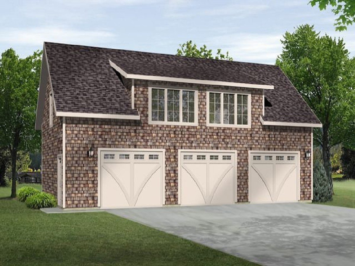One Bedroom Carriage House Plan 22116sl 2nd Floor