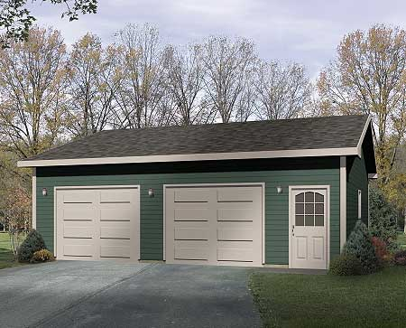 simple two car garage 2216sl cad available narrow lot