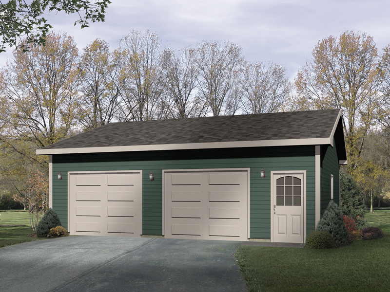 Simple TwoCar Garage 2216SL – Simple 2 Car Garage Plans