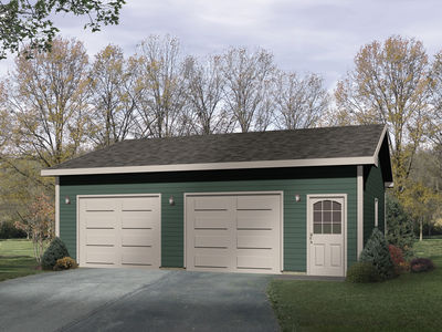 Simple two car garage 2216sl architectural designs for Simple 2 car garage plans