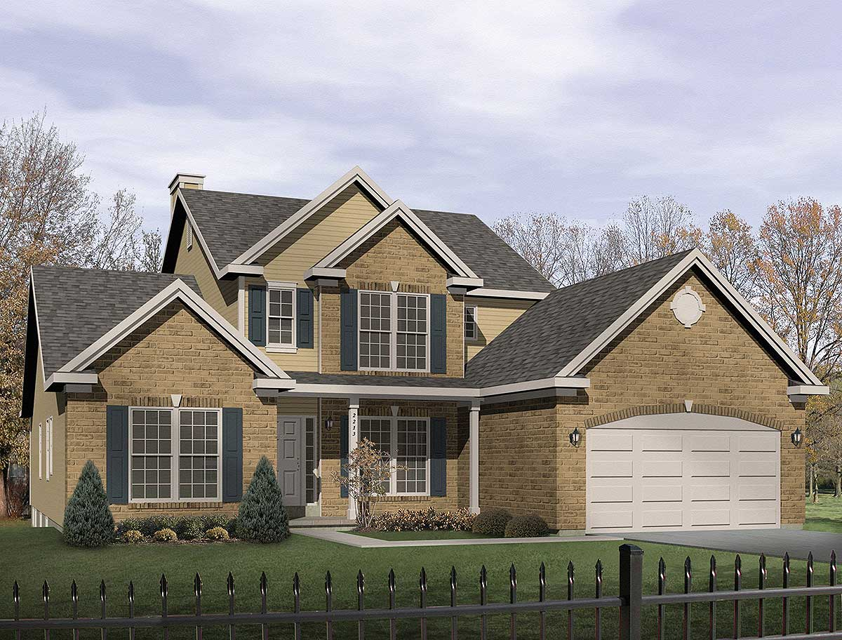 Two story great room 2230sl 1st floor master suite for House plans with 2 story library