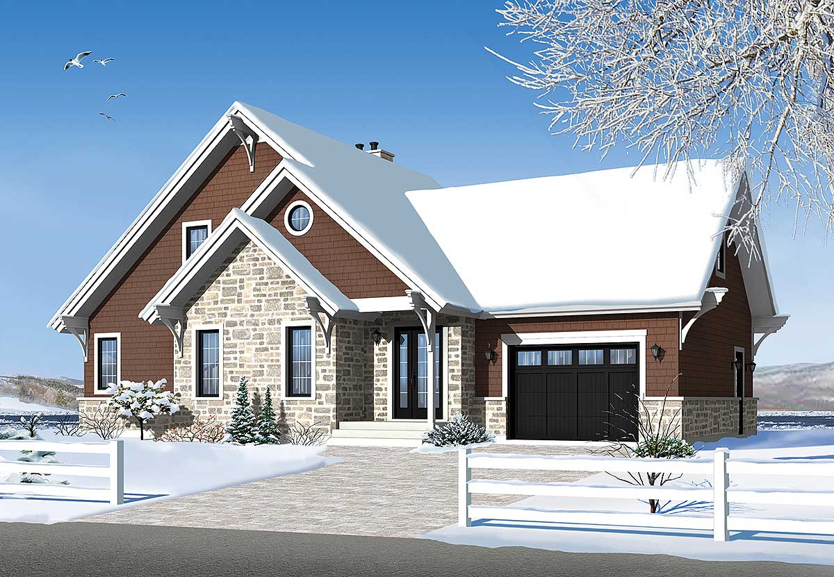 Cottage favorite with garage addition 22324dr 1st for Garage addition designs