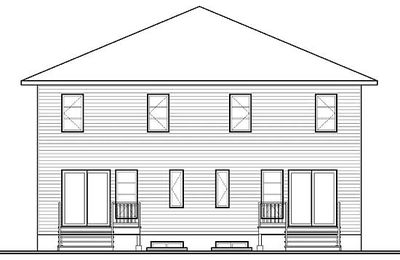 Contemporary multi family home 22328dr 2nd floor for Family home plans canada