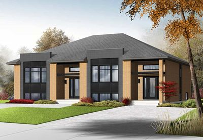 Sleek Modern Multi-Family House Plan - 22330DR | Architectural ...