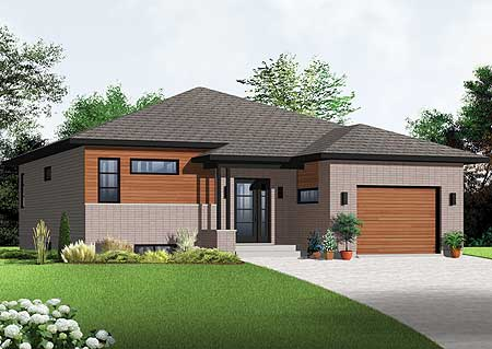 Sleek 2 bedroom contemporary house plan 22333dr for Sleek home designs