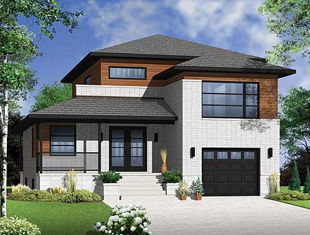 Modern comforts and style 22336dr 2nd floor master for Modern house plans canada