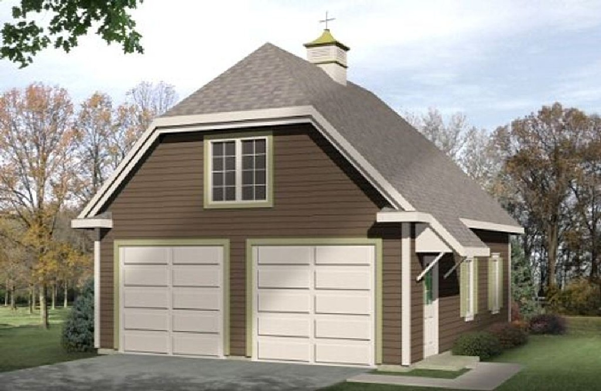 Detached garage with loft 2234sl architectural designs for Garage designs with loft