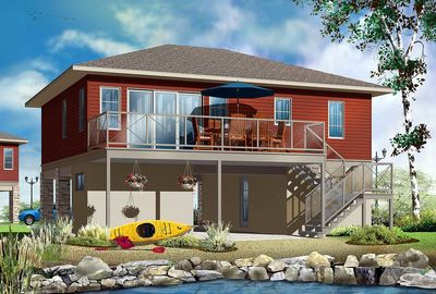 No Worries Flood Zone House Plan 22340dr 2nd Floor