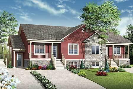 Fab 4 Plex House Plan   22346DR   01