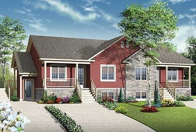 Fab 4 plex house plan 22346dr architectural designs for Modular 4 plex