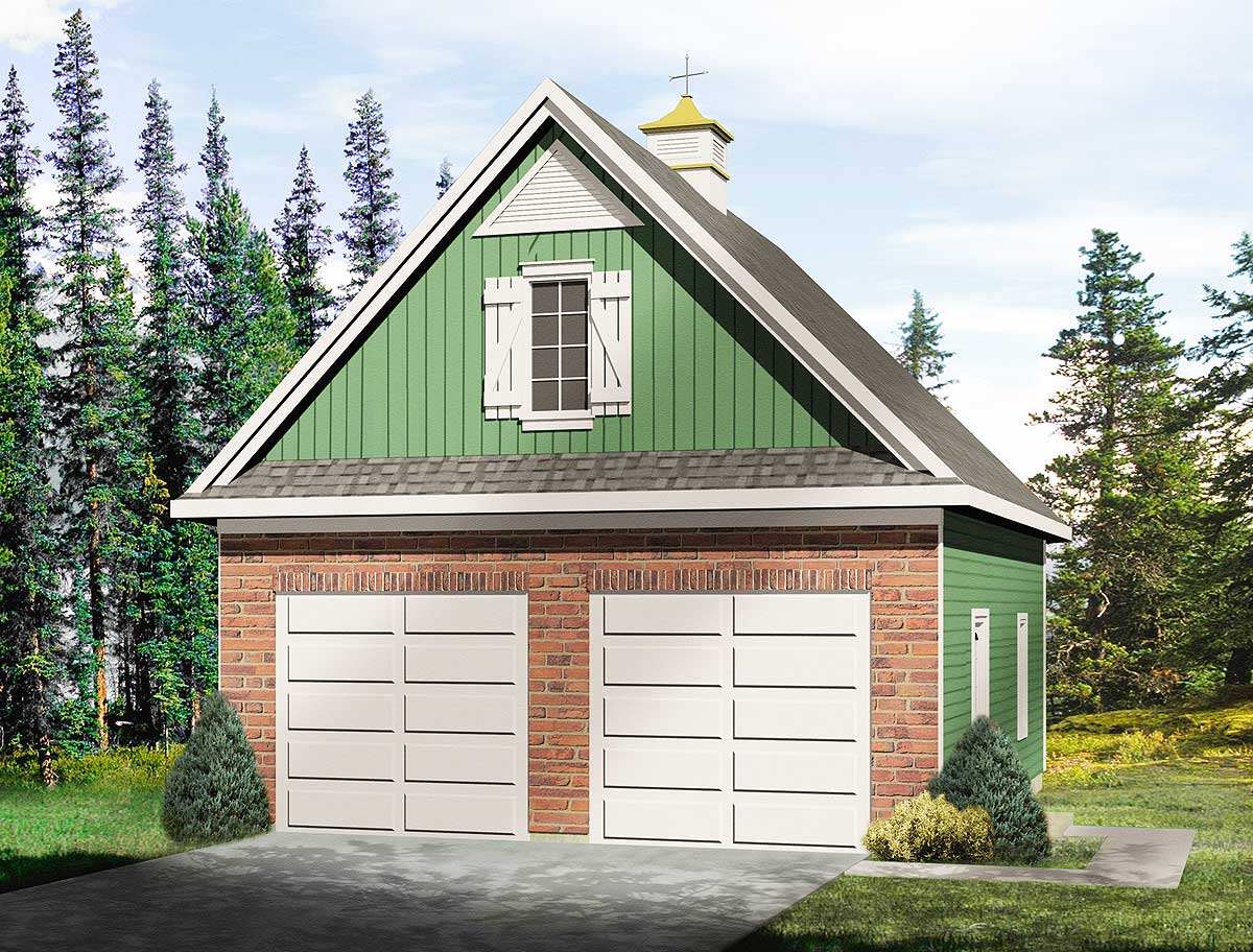 Garage with loft 2235sl architectural designs house for 2 car garage with loft kit