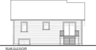 Small Split Level Home Plan - 22354DR thumb - 02