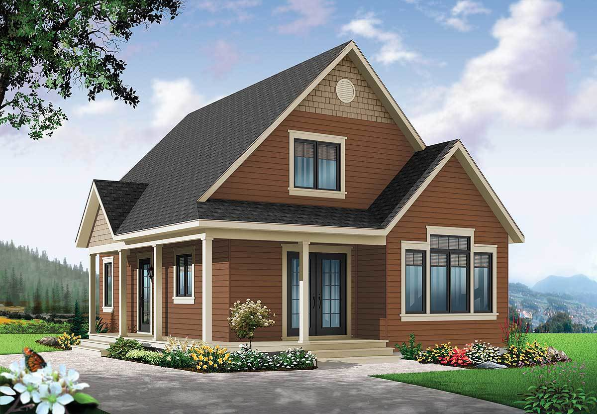 cottage house plan with expansion 22356dr architectural