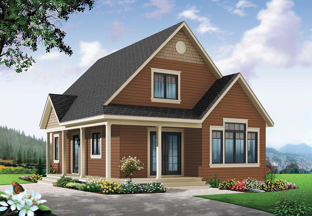 Cottage house plan with expansion 22356dr for House plans designed for future expansion
