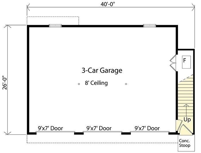 Architectural designs for Garage apartment plans 1 level