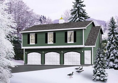 Affordable Garage Apartment - 2236SL | Architectural Designs ...
