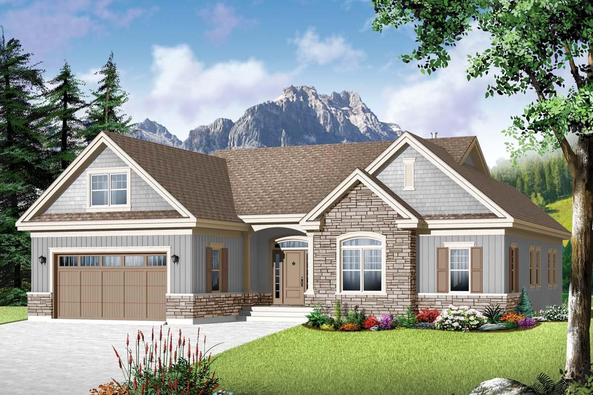 Flexible family home plan 22367dr architectural designs house plans - Plan maison americaine ...