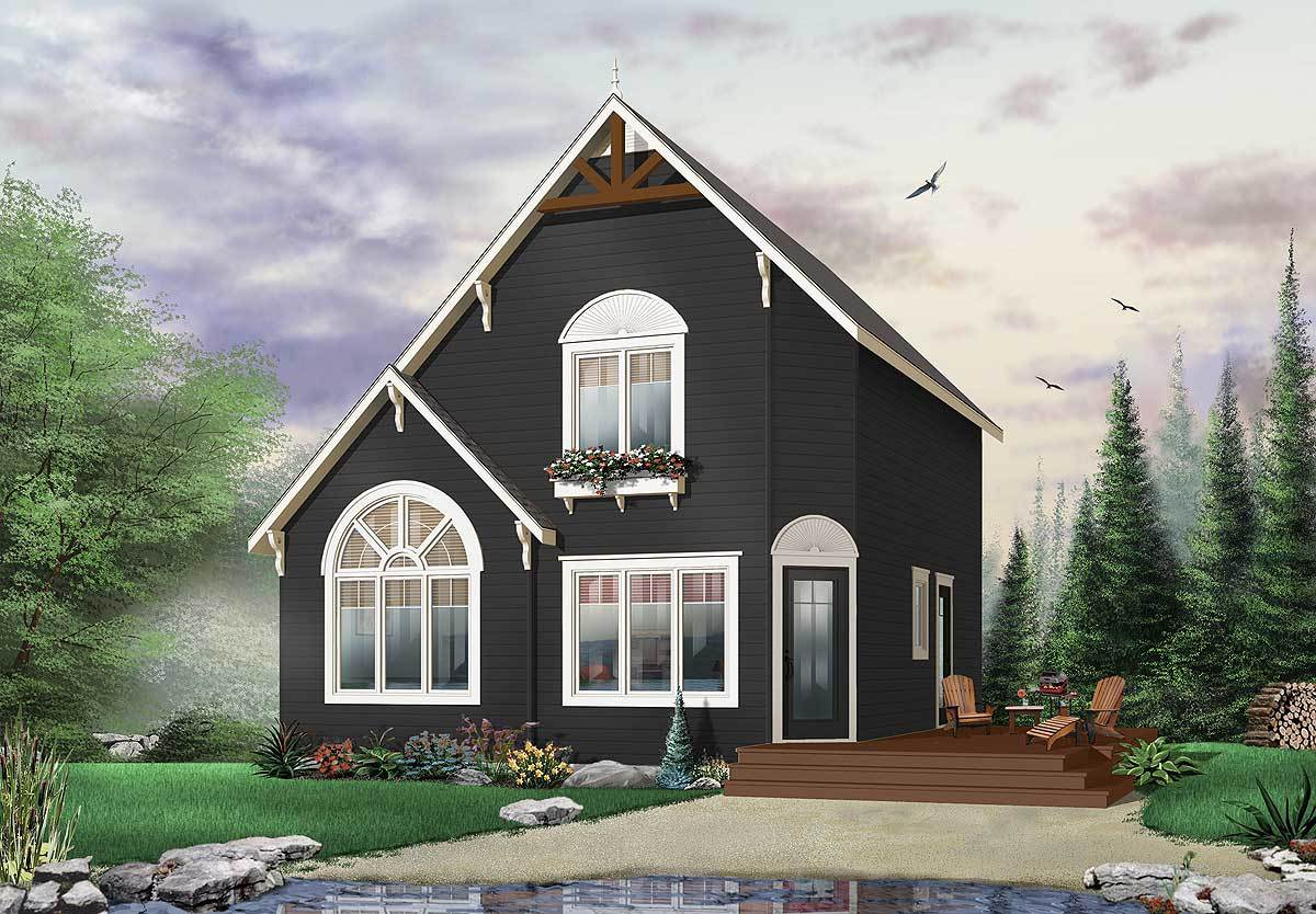 Cozy cottage hideaway 22371dr 2nd floor master suite for Cozy cottage plans