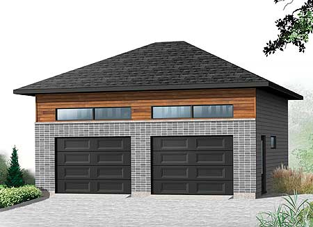 Sleek 2 car garage 22373dr cad available canadian for Canadian garage plans