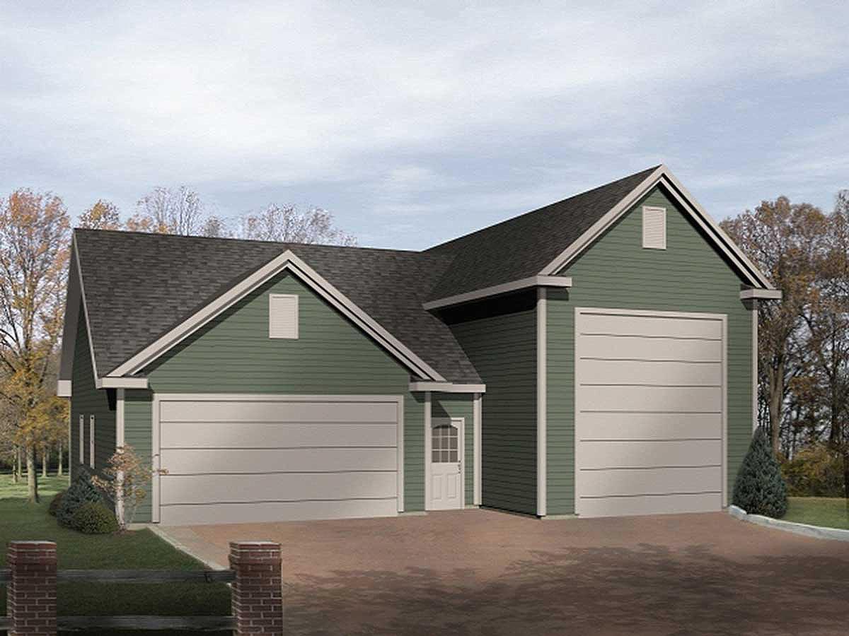 Rv garage plan 2238sl architectural designs house plans for Large garage plans
