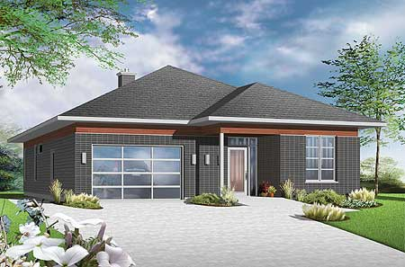 Accessible barrier free house plan 22382dr Barrier free house plans