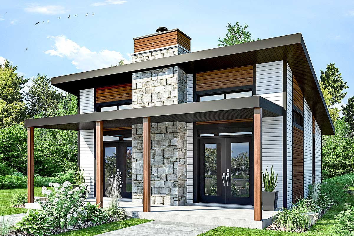 Contemporary vacation retreat 22403dr architectural for Retreat house plans