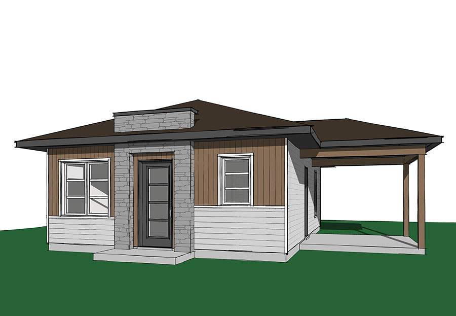 Two bedroom tiny cottage 22404dr architectural designs for 2 bedroom tiny house