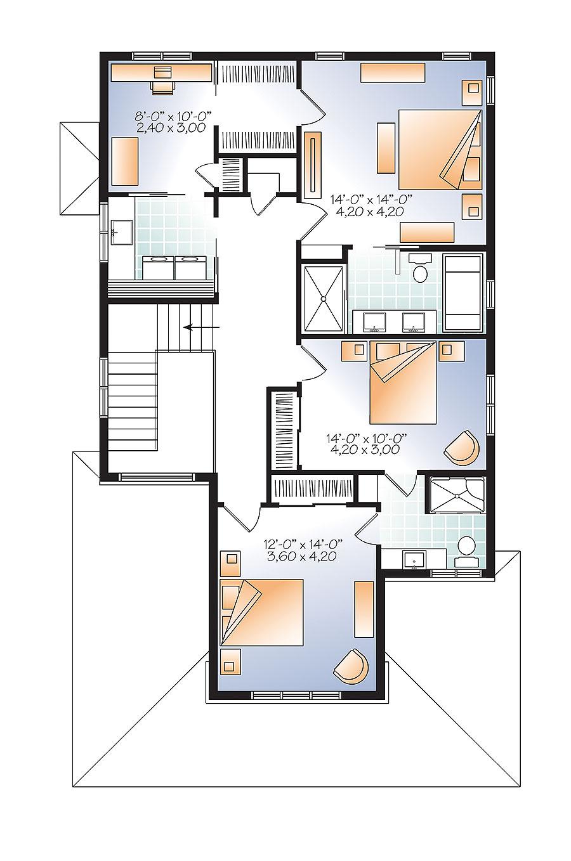 Narrow lot northwest house plan 22406dr architectural for Northwest floor plans
