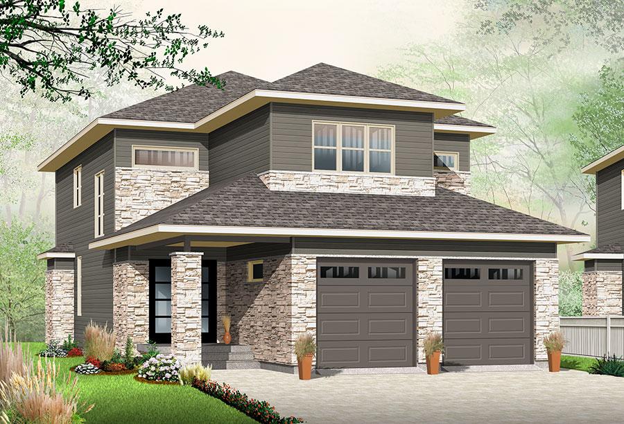 Narrow Lot Northwest House Plan - 22406DR   Architectural Designs ...