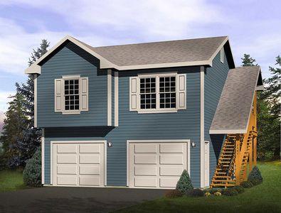 2-Car Garage Apartment - 2241SL | Architectural Designs - House Plans