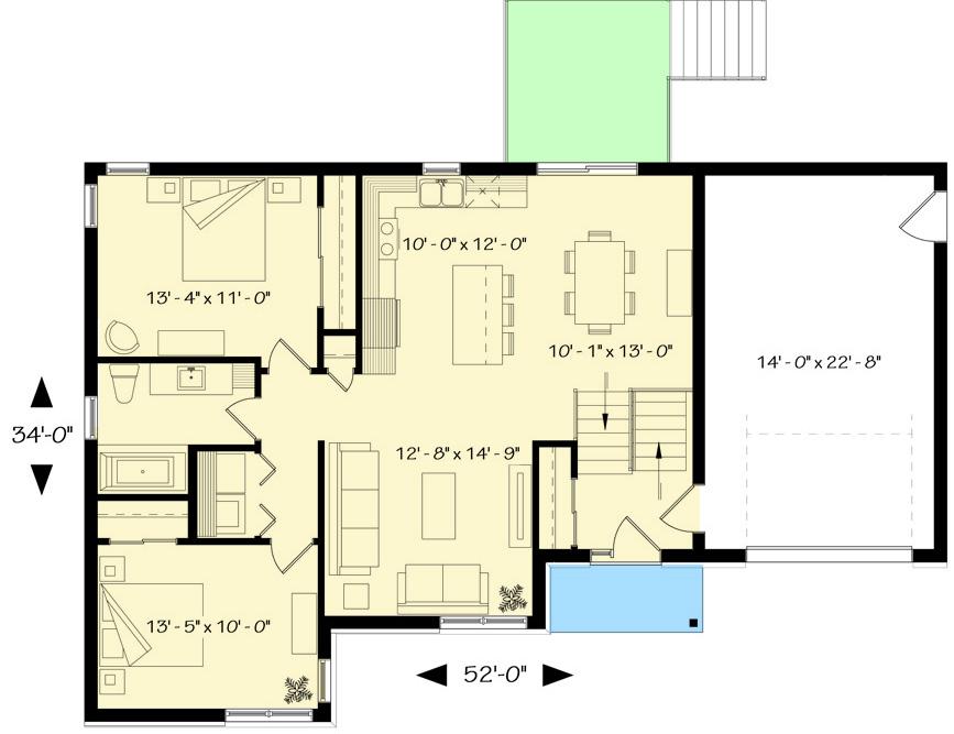 Contemporary Split Level House Plan 22426dr