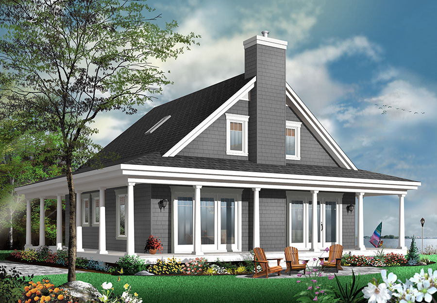 4 Bedroom Country House Plan With Wrap Around Porch