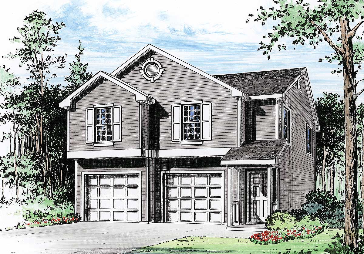 2 car garage apartment 2251sl architectural designs for 2 car garage plans