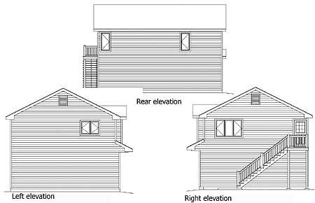 Unique Carriage House Plan   SL   nd Floor Master Suite  CAD    Plan SL ArchitecturalDesigns com