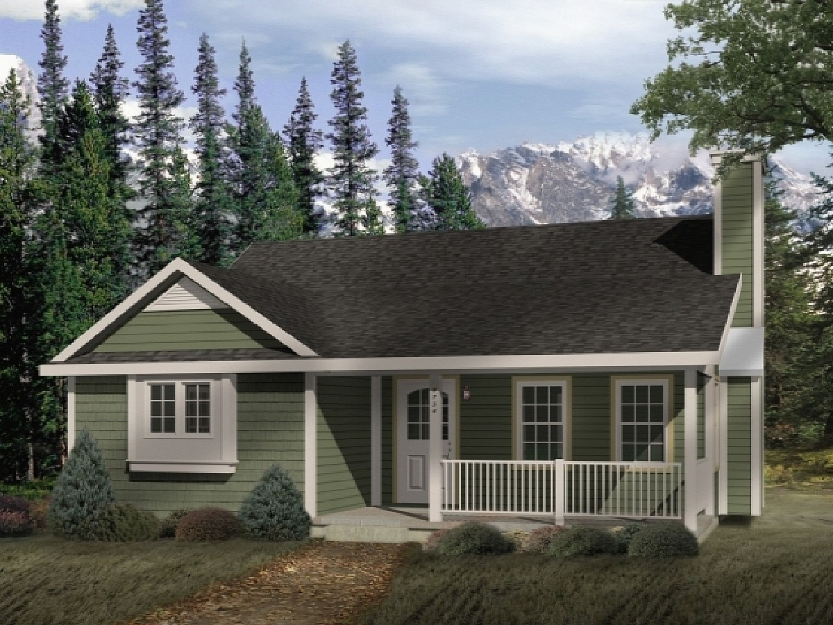 Country style cottage 2254sl architectural designs - Cottage style home plans designs ...