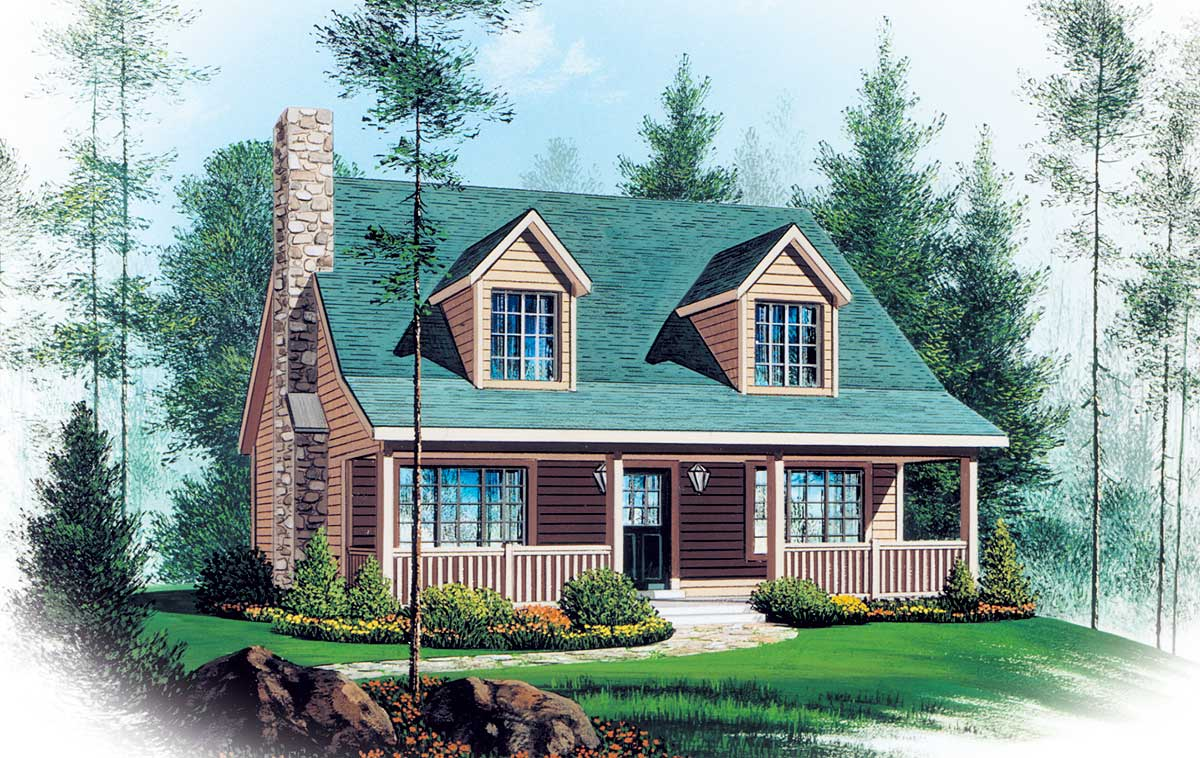 Two story vacation home plan 2262sl architectural for Free vacation home plans