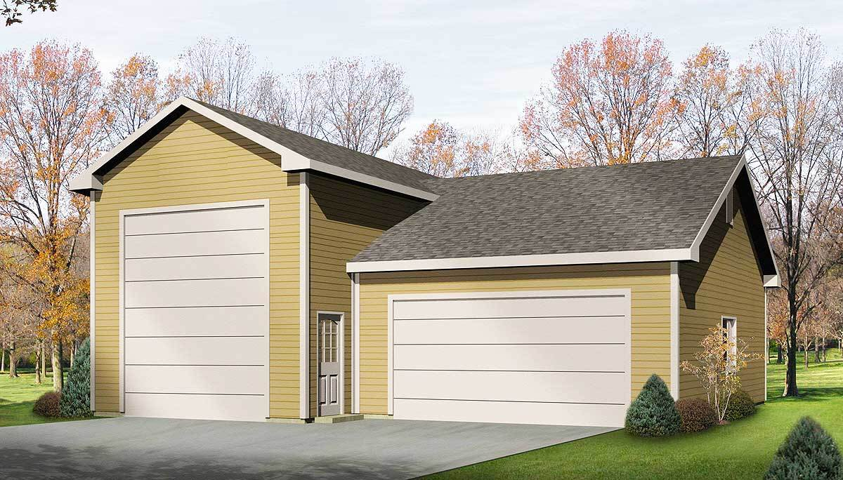 Rv garage plan 2263sl architectural designs house plans for Large garage plans