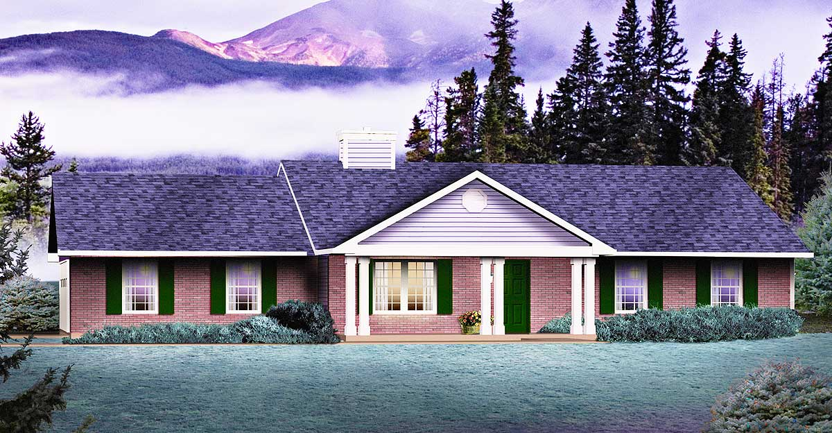 Ranch With Covered Porch - 2269SL