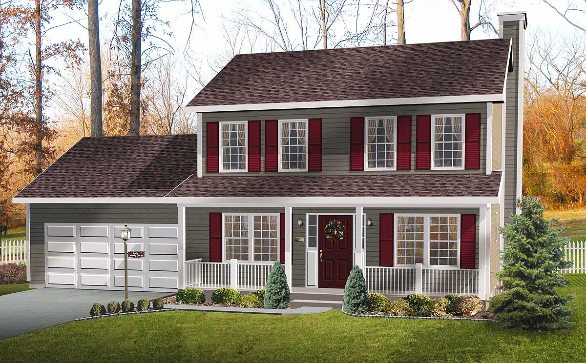 Open country floor plan 2278sl architectural designs for Country floor
